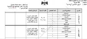 منصة عمر التعليمية | خطة عربي للصف الرابع الفصل الاول حسب الرزمة الثالثة