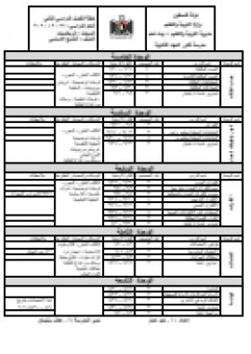 منصة عمر التعليمية   خطة رياضيات للصف التاسع - الفصل الثاني