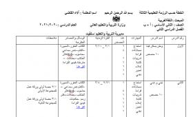 منصة عمر التعليمية | خطة الرزمة التعليمية الثالثة في اللغة العربية للصف الثاني الفصل الثاني