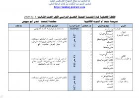 منصة عمر التعليمية   خطة فصلية في مادة اللغة العربية للصف الثالث الفصل الأول