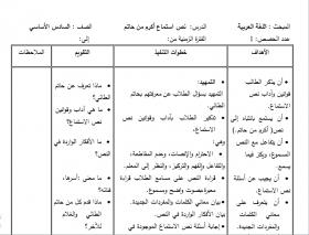 منصة عمر التعليمية | تحضير في مادة اللغة العربية للصف السادس الفصل الأول
