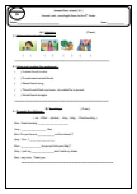 منصة عمر التعليمية | امتحان  نصفي انجليزي للصف الخامس -الفصل الثاني